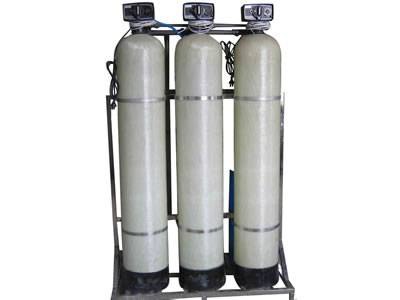 There is a set of FRP water storage tanks which contains three single ones.
