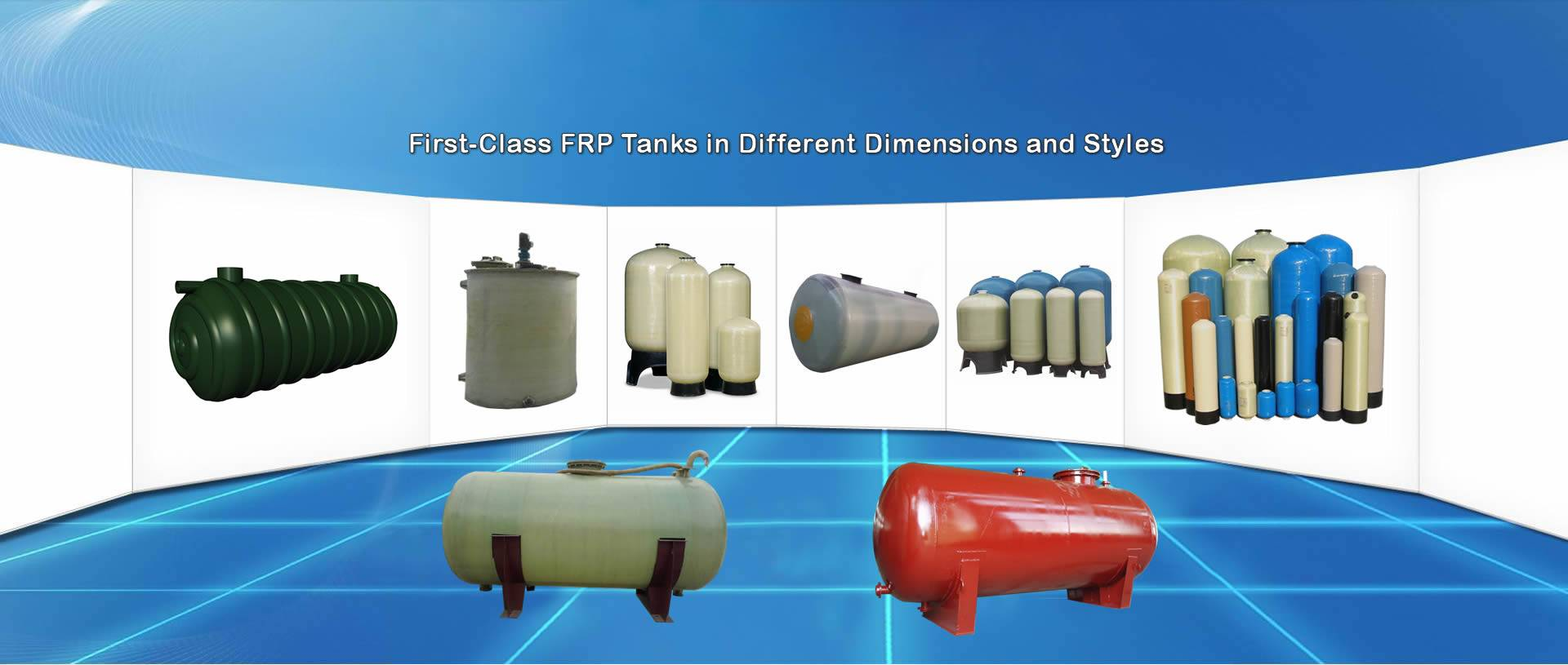 There are all sorts of FRP tanks in different styles and sizes.