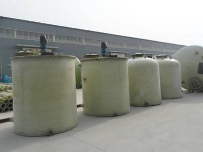 These are FRP agitator tanks in cylinder shape.