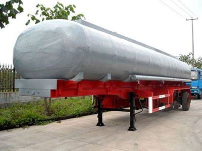 There is a FRP transportation tank which is prepared to be assembled.